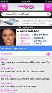 Famous Birthday iPhone app