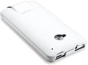 Leather case White