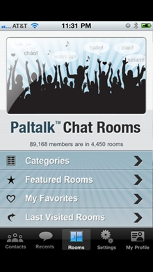 Chat Rooms in Paltalk