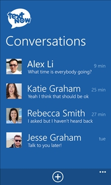 TextNow conversation