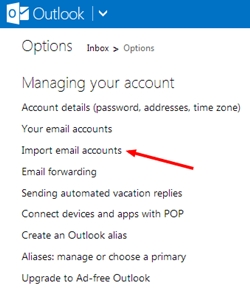 Import your email account