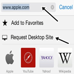 How to Enable Desktop Version of Website in iOS 8 Safari