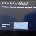 factory defaults xbox one