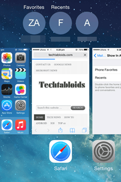 App Switcher iPhone 6