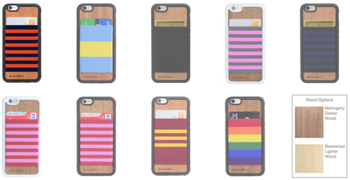 Stripe Bands Wallet case