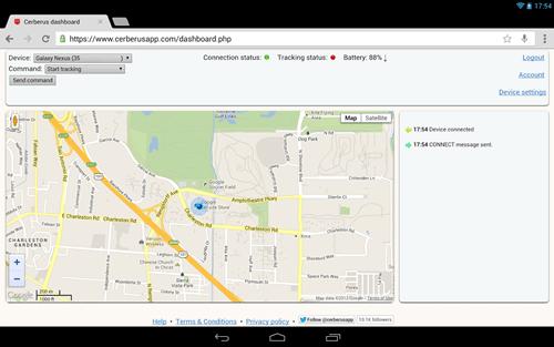 Locate smartphone Cerberus app
