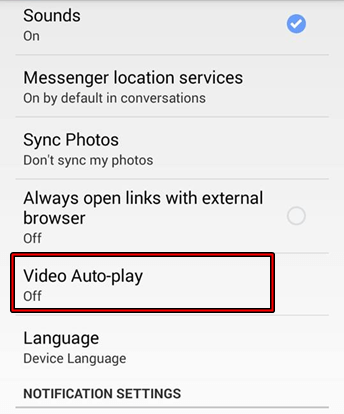 Android Facebook Video Auto Play
