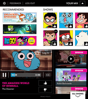 Cartoon network iPhone Tv app