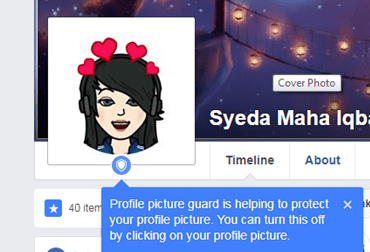 Profile guard on fb enabled