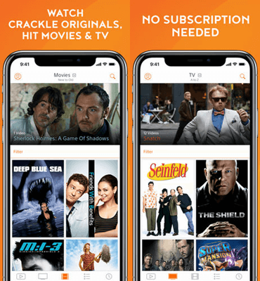 crackle iPhone TV app