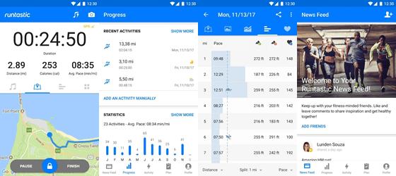 running and fitness tracker app
