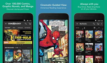 Digital Comics Reading App for Android and iOS